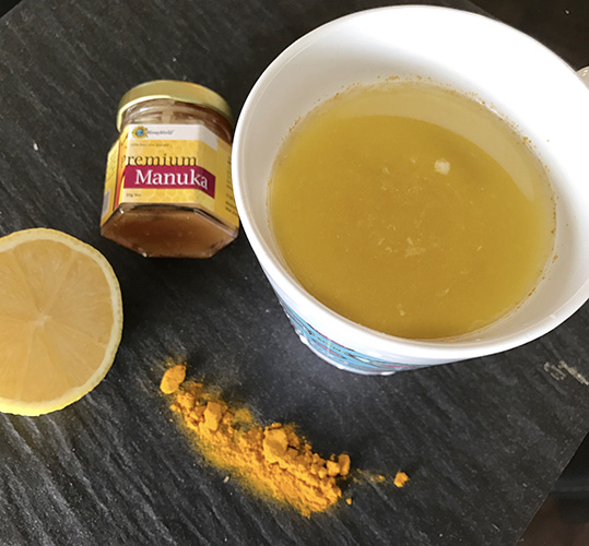 Warm Lemon Water with Turmeric