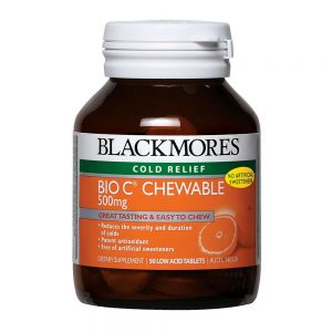 Blackmores_Bio C Chewable 500mg 50s_Angle1