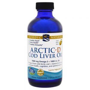 Nordic Naturals_Arctic-D Cod Liver Oil - Lemon, 237 ml.
