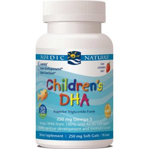 Nordic Naturals_Childrens DHA 250mg Strawberry 90sgls