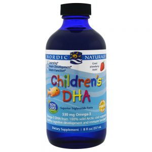 Nordic Naturals_Children's DHA Arctic Cod Liver Oil - Strawberry, 237 ml.