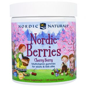 Nordic Naturals_Nordic Berries Multivitamin Gummies - Cherry Berry, 120 berries.