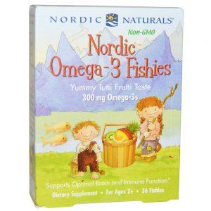 Nordic Naturals_Nordic Omega-3 Fishies - Tutti Frutti, 36 gums.