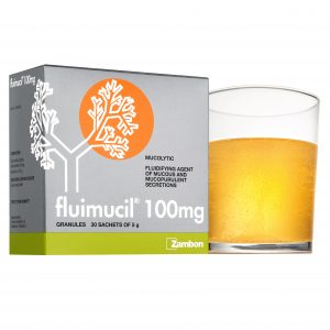 Fluimucil 100mg with glass angle 2